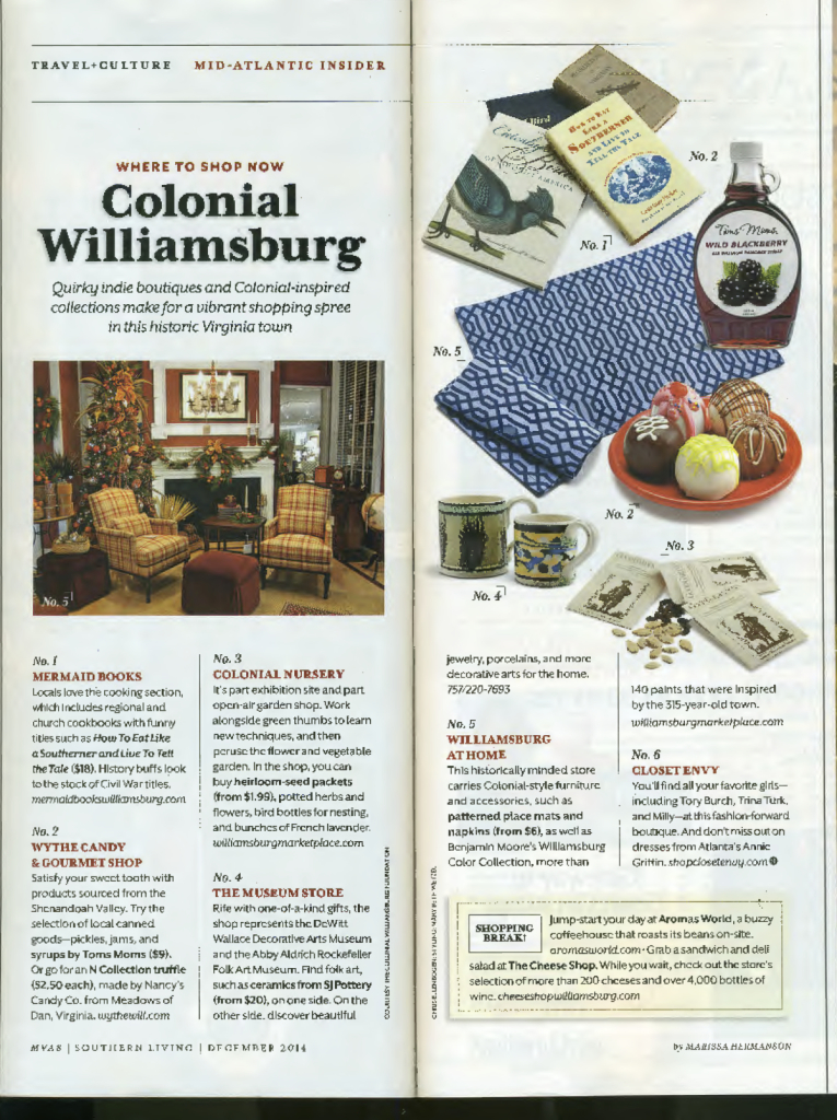 Southern Living Dec. 2014 Feature